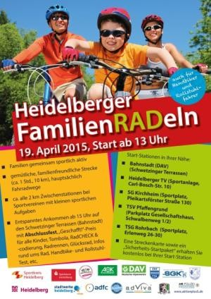 Plakat 'Heidelberger Familienradeln' am 19. April 2015