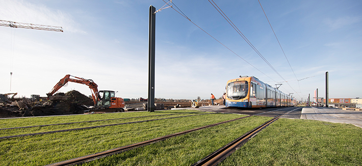 New Tram in Bahnstadt (Photo: Buck)